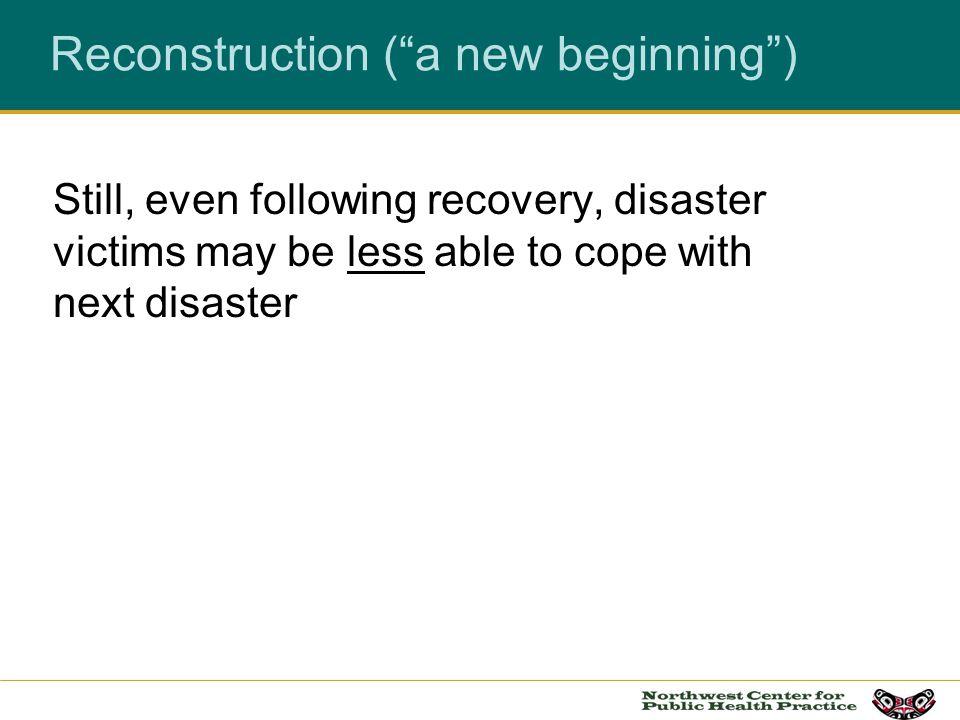 Reconstruction ( a new beginning )