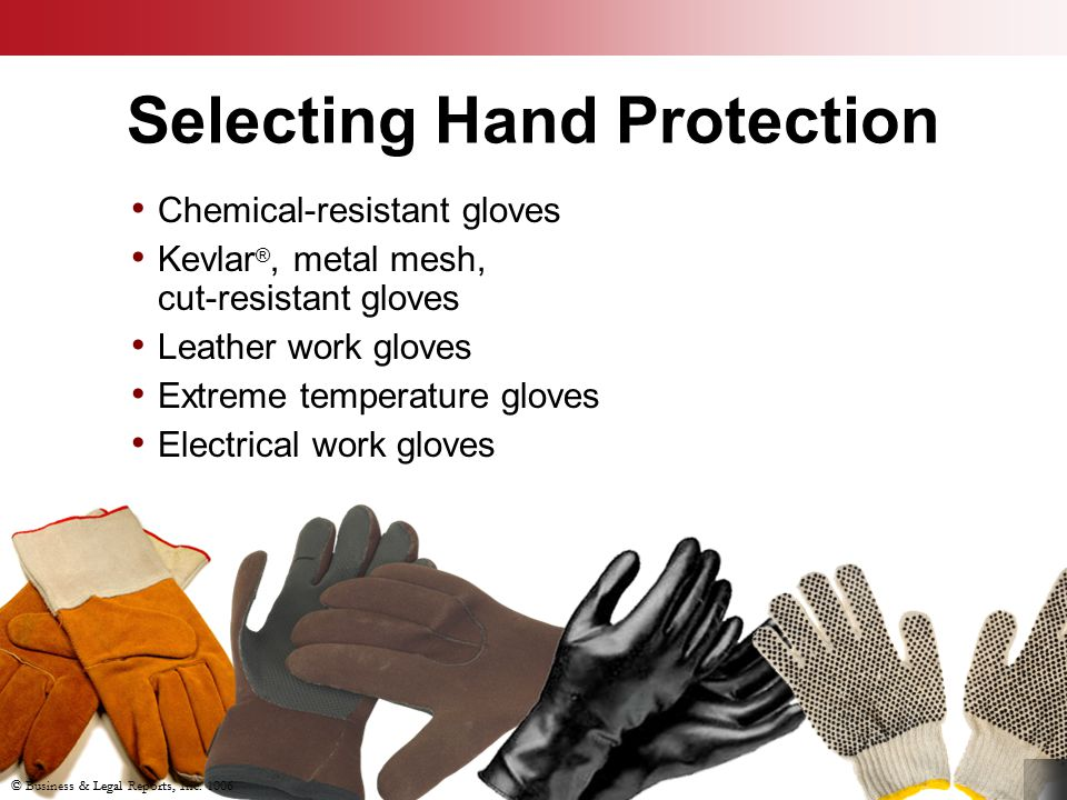 Selecting Hand Protection