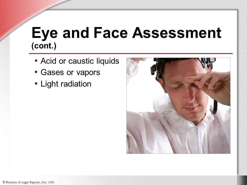 Eye and Face Assessment (cont.)