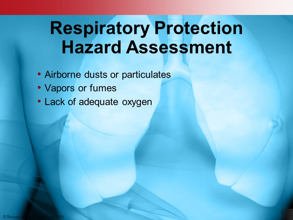 Respiratory Protection Hazard Assessment
