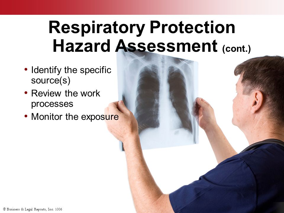 Respiratory Protection Hazard Assessment (cont.)