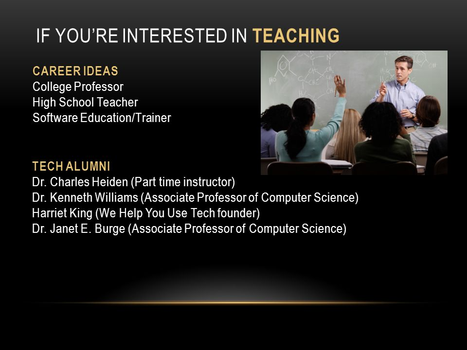 If you're Interested in Teaching
