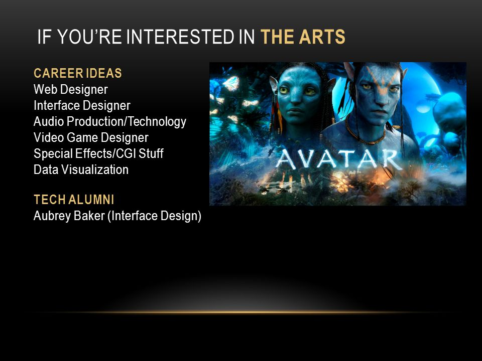 If you're Interested in the Arts