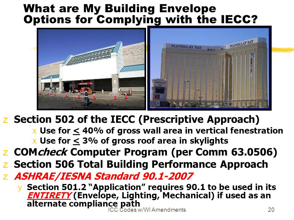 What are My Building Envelope Options for Complying with the IECC