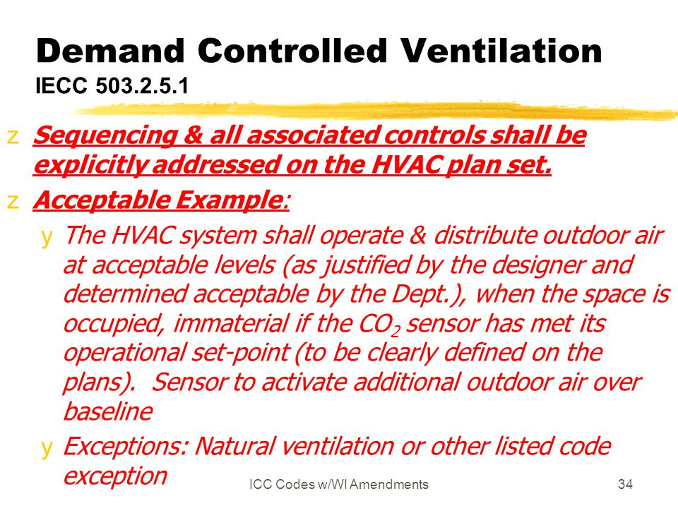 Demand Controlled Ventilation IECC 503.2.5.1