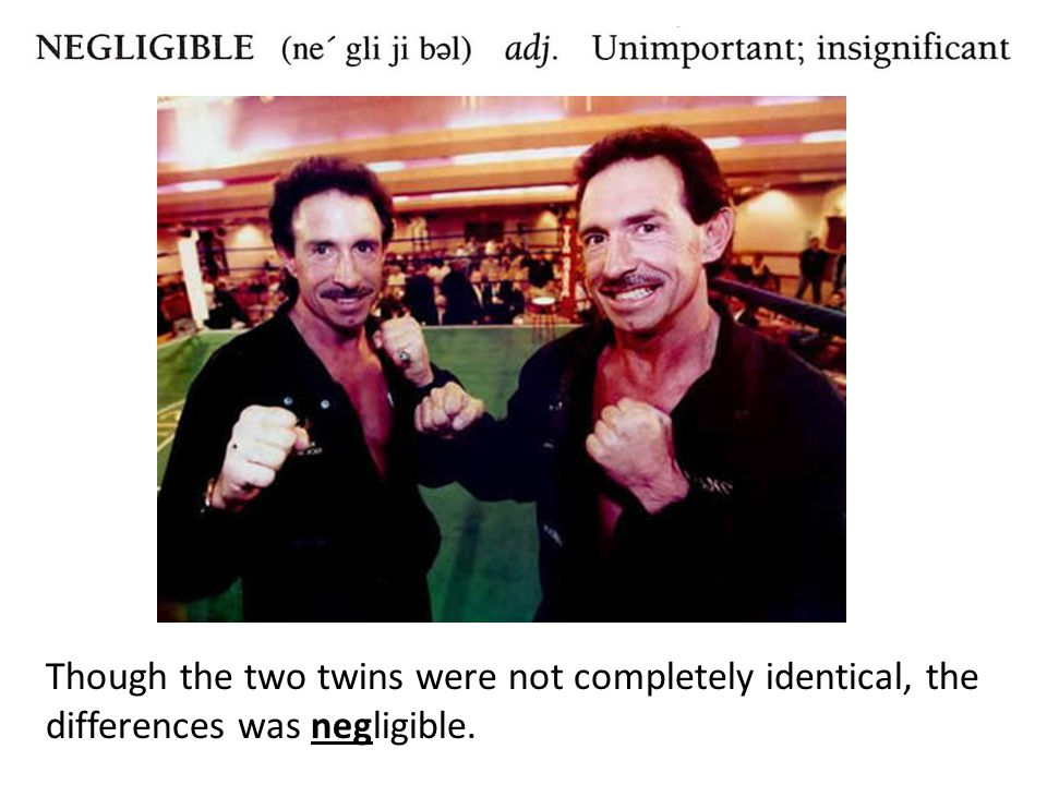 Though the two twins were not completely identical, the differences was negligible.