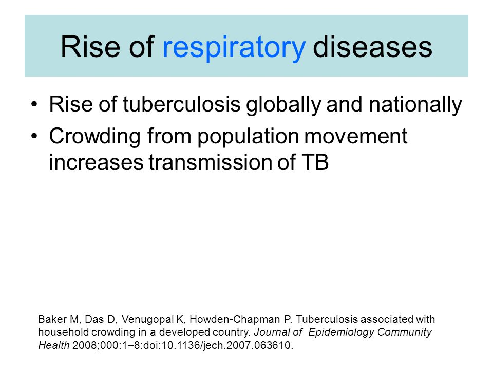 Rise of respiratory diseases