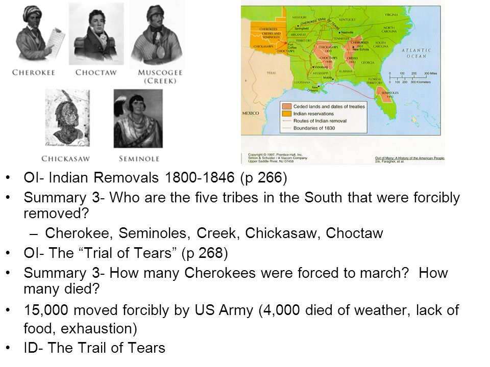 OI- Indian Removals 1800-1846 (p 266)