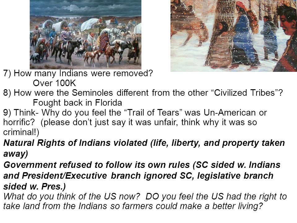 7) How many Indians were removed
