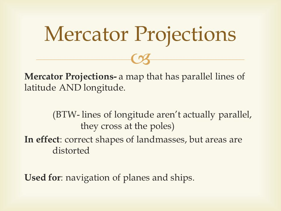 Mercator Projections