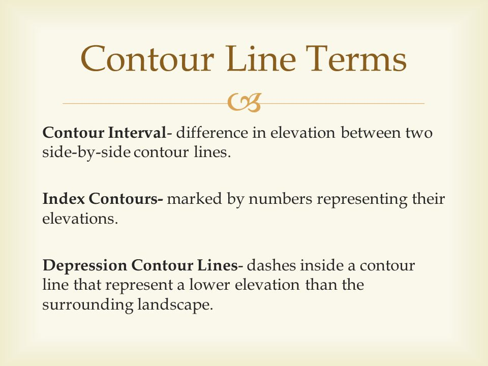 Contour Line Terms