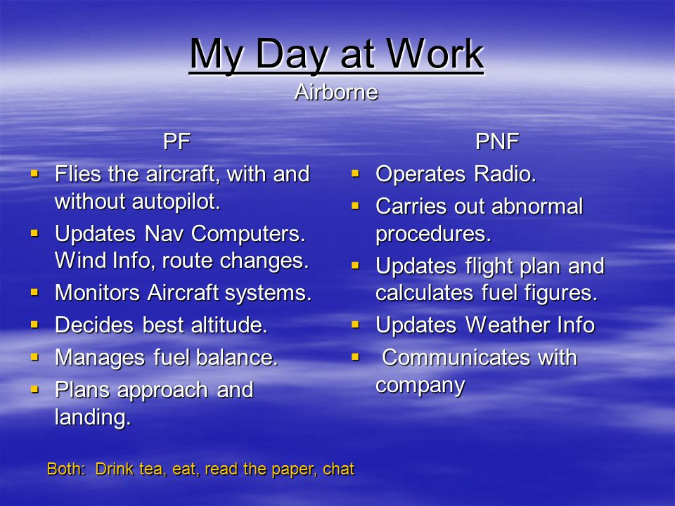 My Day at Work Airborne PF
