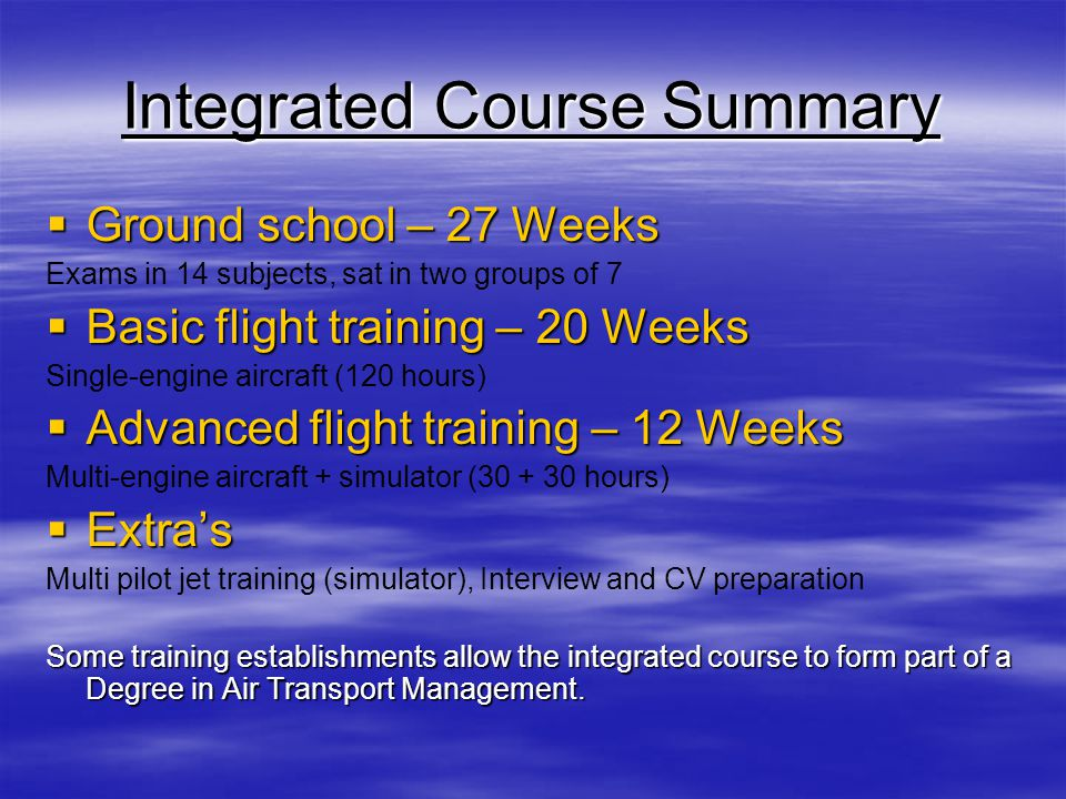 Integrated Course Summary