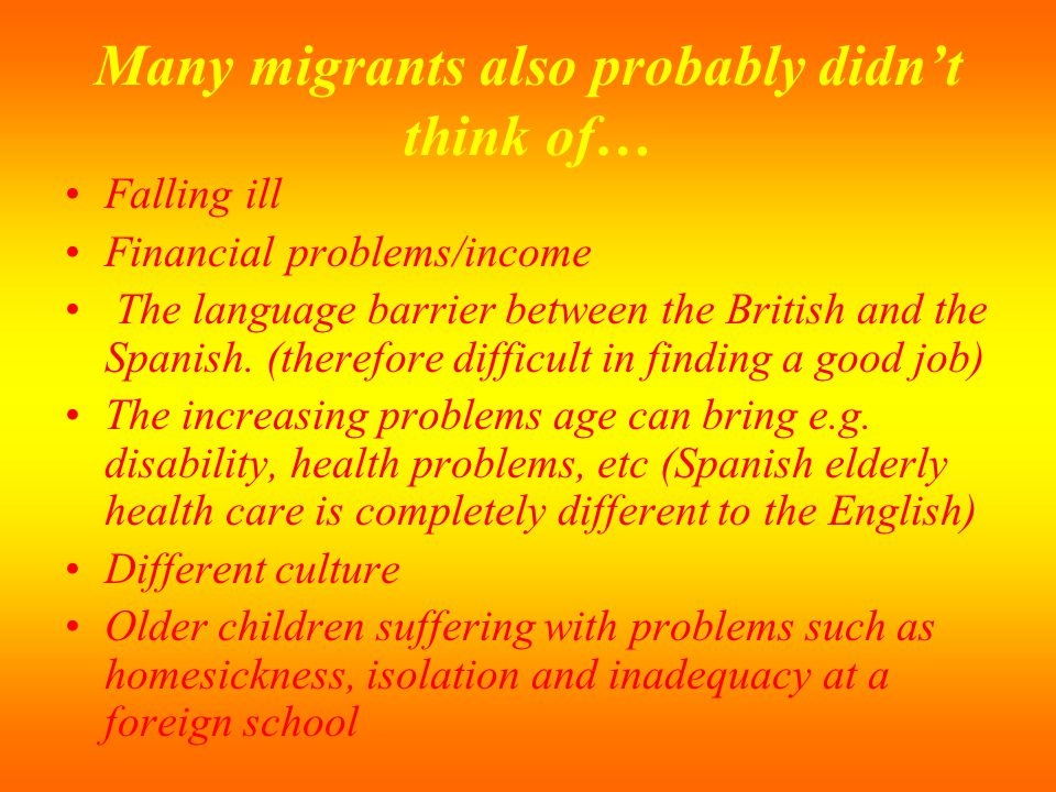 Many migrants also probably didn't think of…