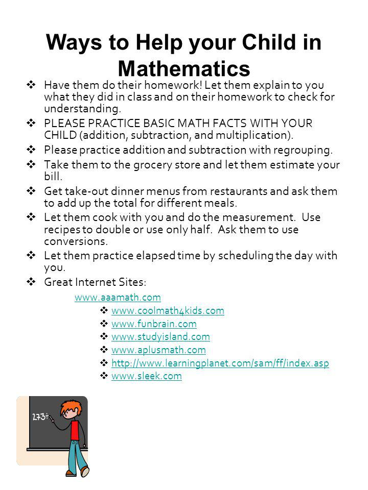 Ways to Help your Child in Mathematics