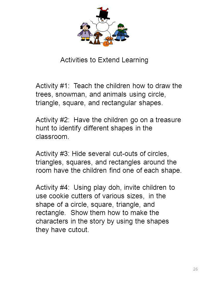 Activities to Extend Learning