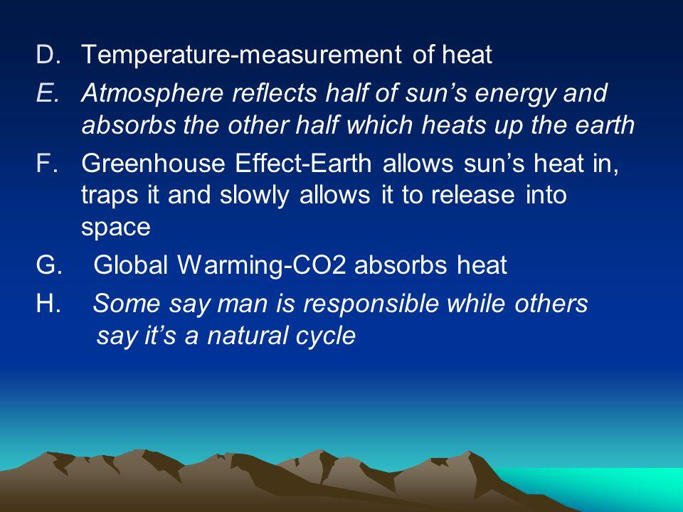 Temperature-measurement of heat