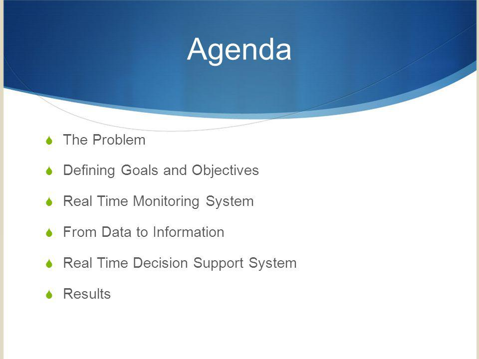 Agenda The Problem Defining Goals and Objectives