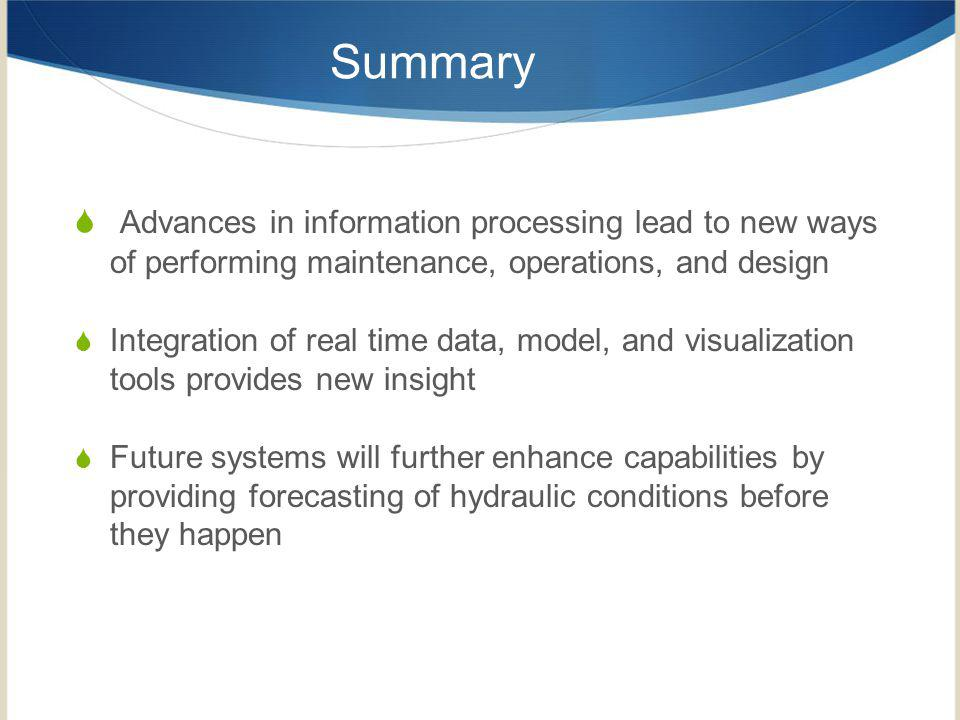 Summary Advances in information processing lead to new ways of performing maintenance, operations, and design.