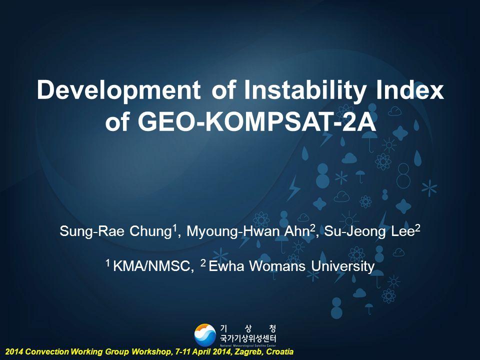 Development of Instability Index of GEO-KOMPSAT-2A