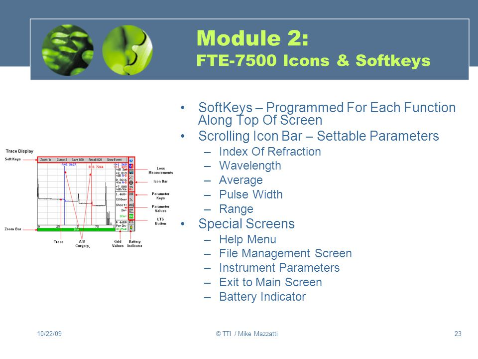 Module 2: FTE-7500 Icons & Softkeys