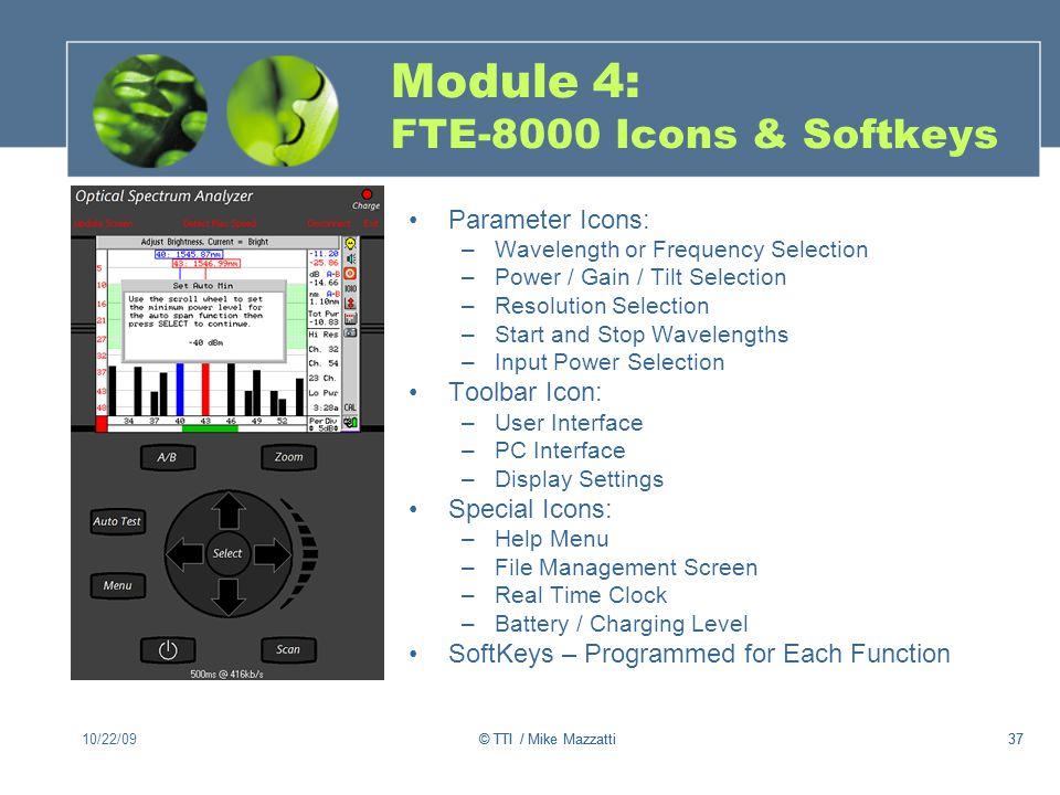 Module 4: FTE-8000 Icons & Softkeys