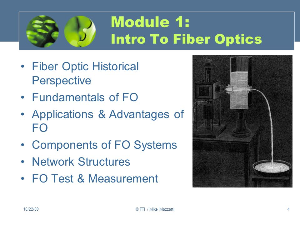 Module 1: Intro To Fiber Optics