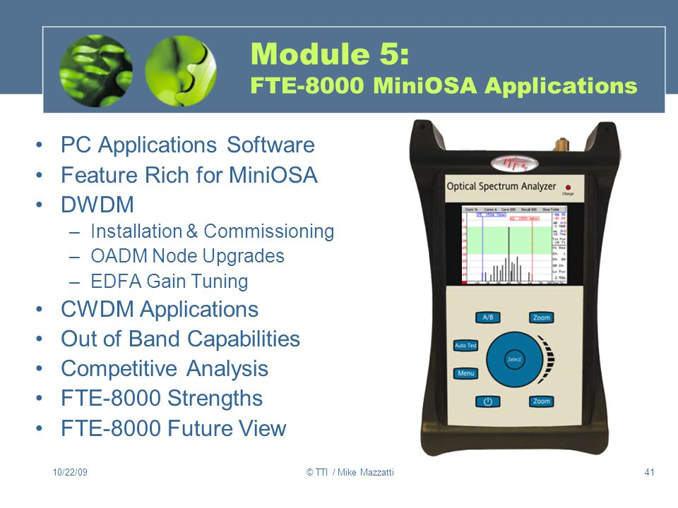 Module 5: FTE-8000 MiniOSA Applications