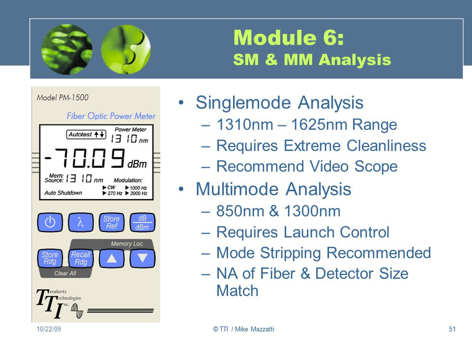Module 6: SM & MM Analysis