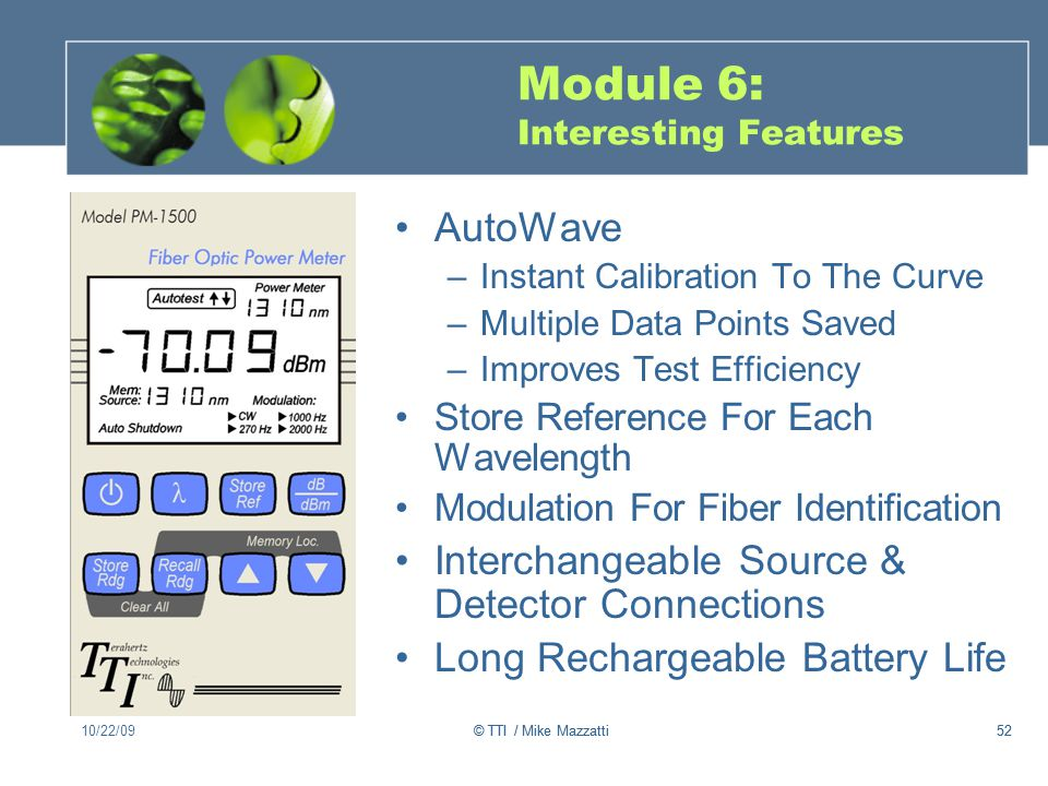 Module 6: Interesting Features