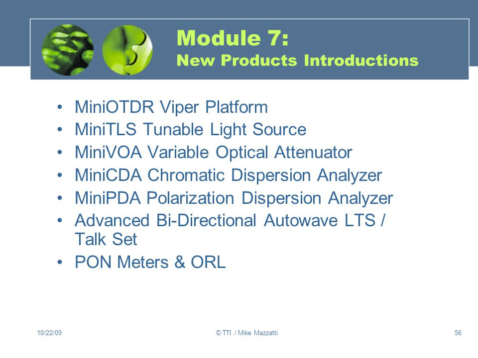 Module 7: New Products Introductions