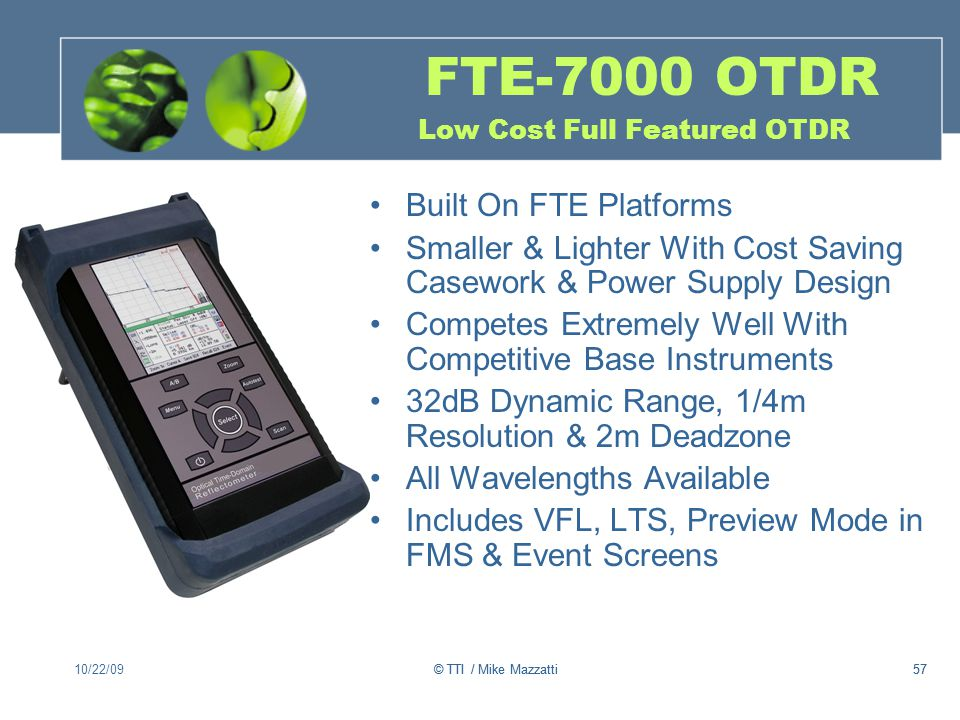 FTE-7000 OTDR Low Cost Full Featured OTDR