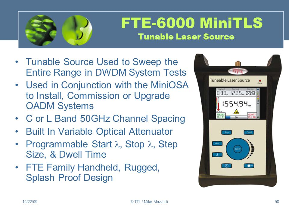 FTE-6000 MiniTLS Tunable Laser Source