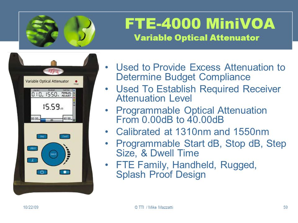 FTE-4000 MiniVOA Variable Optical Attenuator