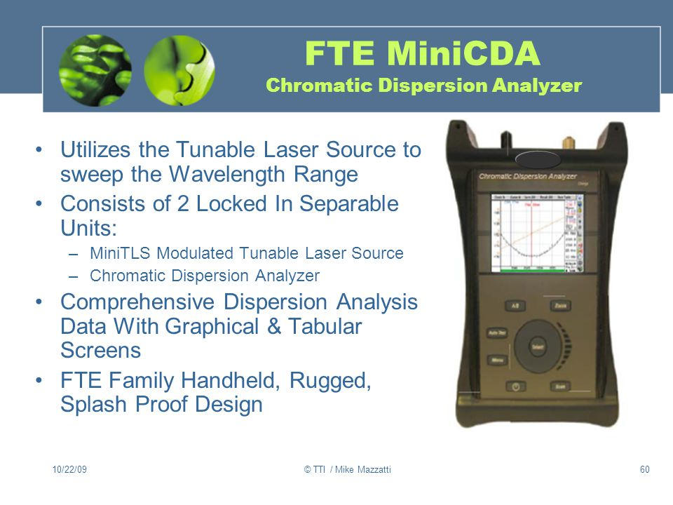 FTE MiniCDA Chromatic Dispersion Analyzer