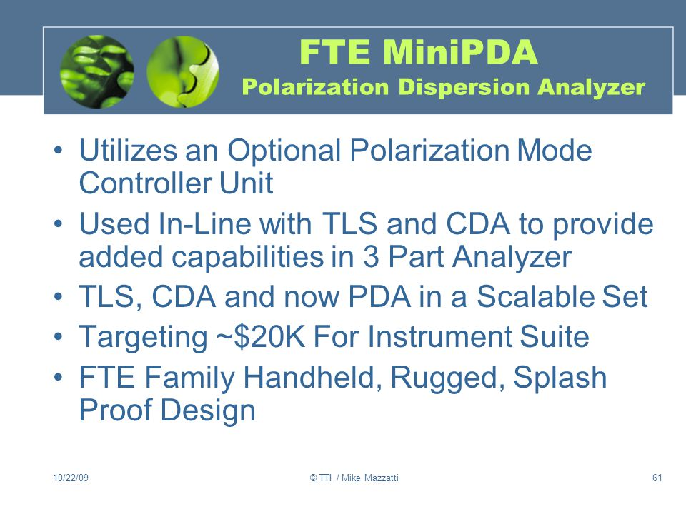 FTE MiniPDA Polarization Dispersion Analyzer