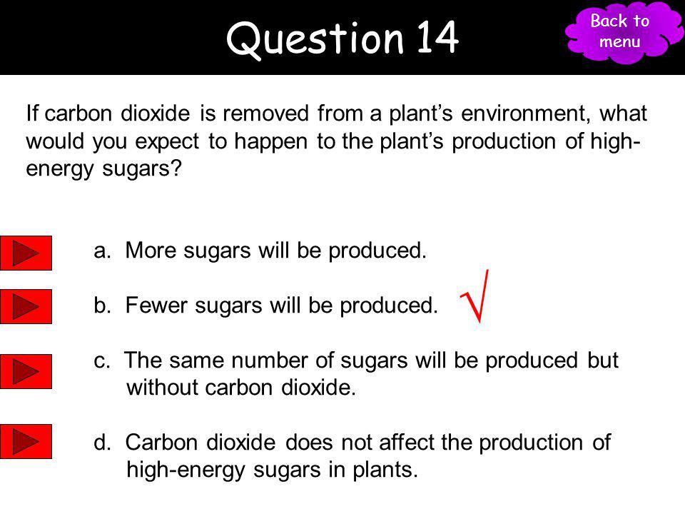 Question 14 Back to menu. 27.