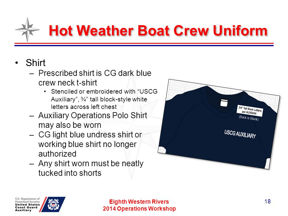 Hot Weather Boat Crew Uniform