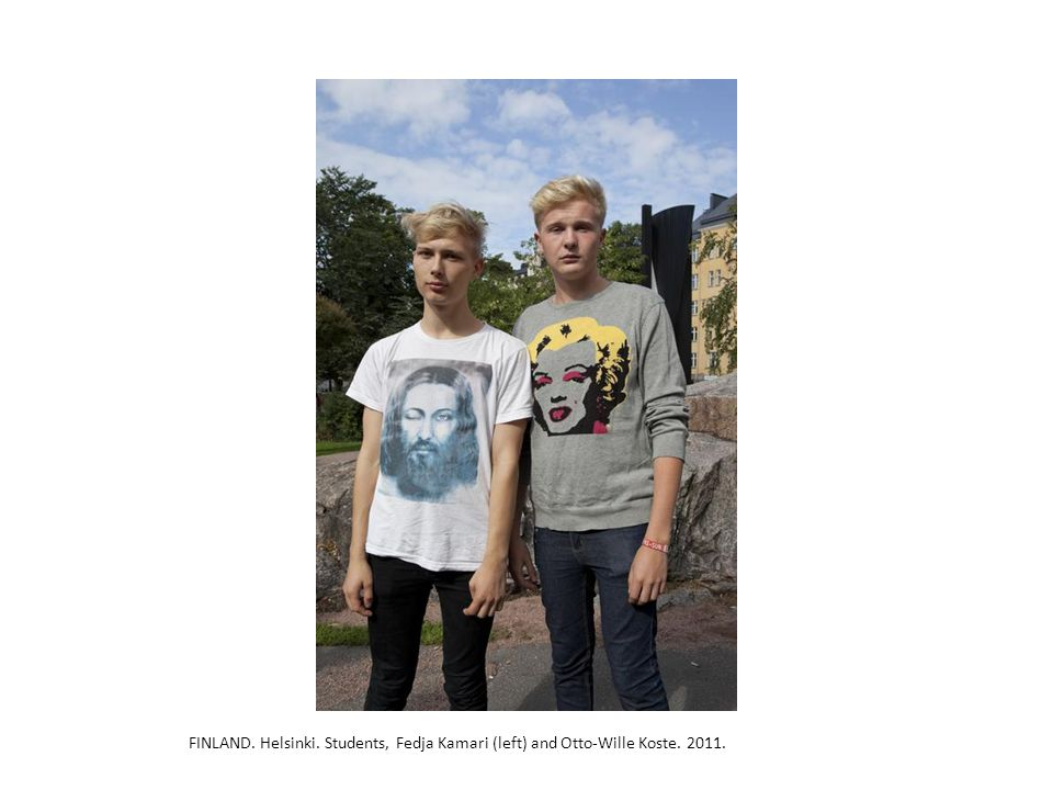 FINLAND. Helsinki. Students, Fedja Kamari (left) and Otto-Wille Koste