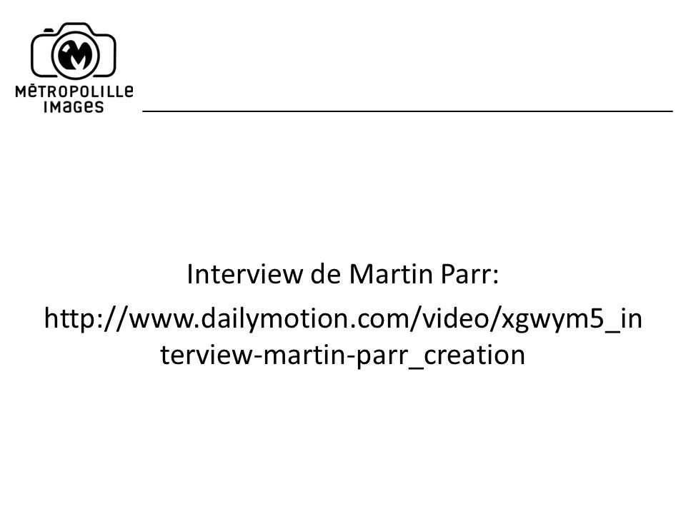 Interview de Martin Parr: