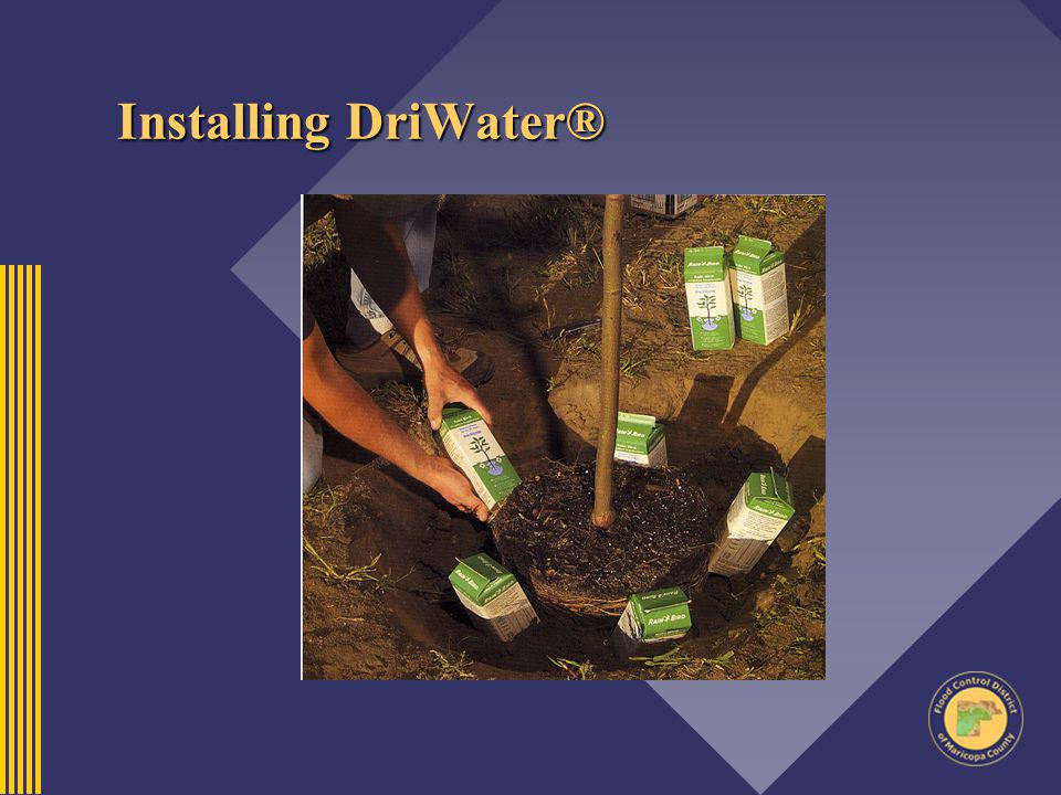 Installing DriWater®