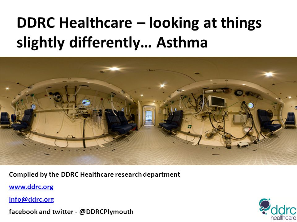 DDRC Healthcare – looking at things slightly differently… Asthma