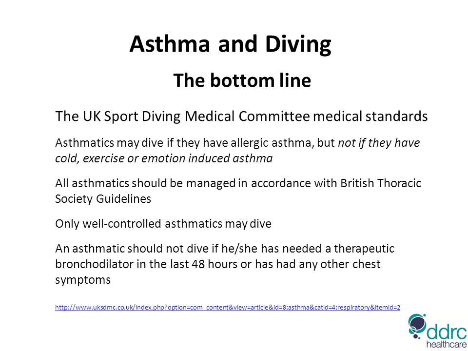 Asthma and Diving The bottom line