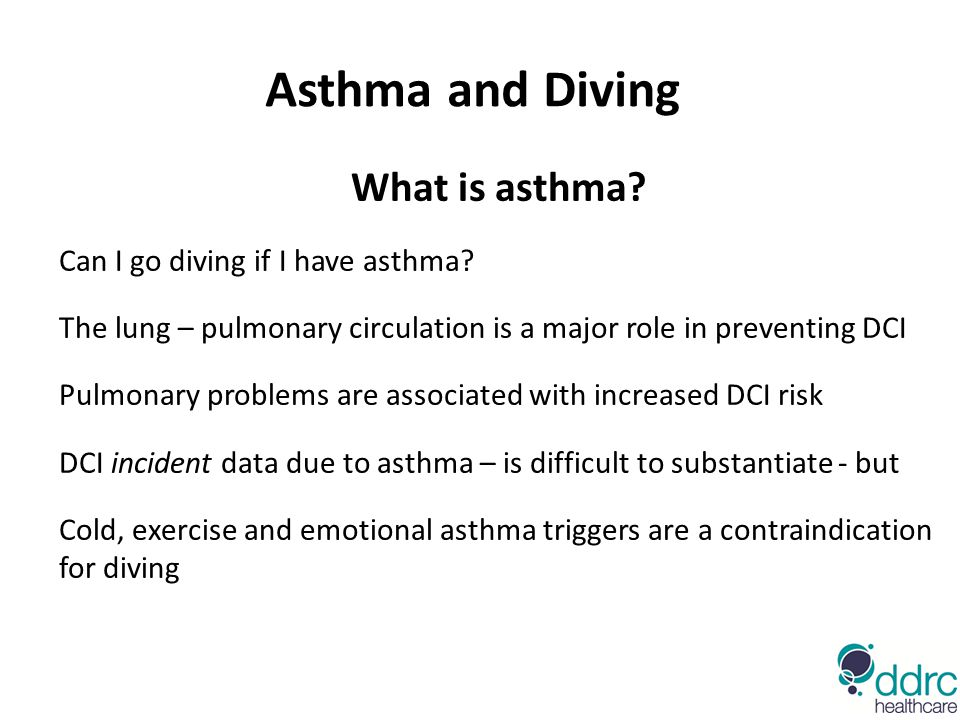 Asthma and Diving What is asthma Can I go diving if I have asthma
