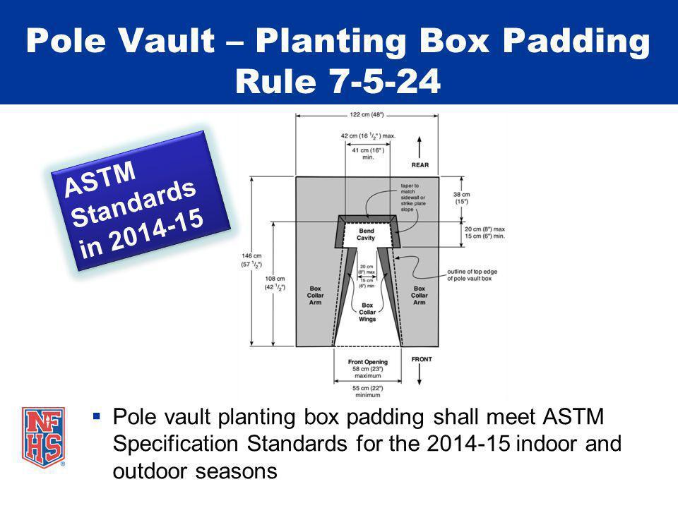 Pole Vault – Planting Box Padding Rule 7-5-24