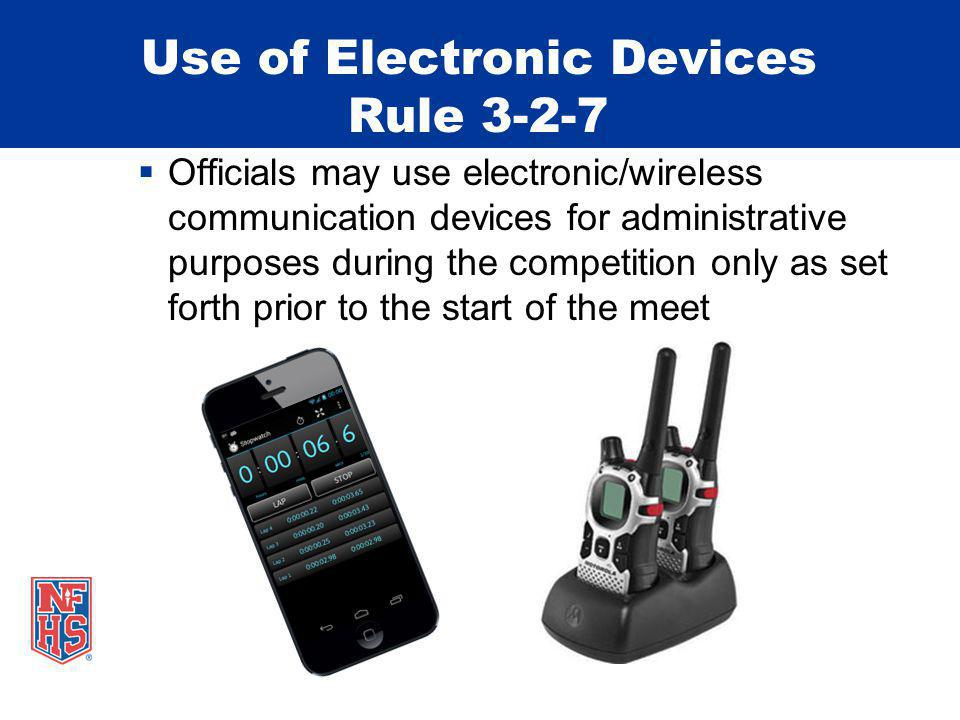Use of Electronic Devices Rule 3-2-7