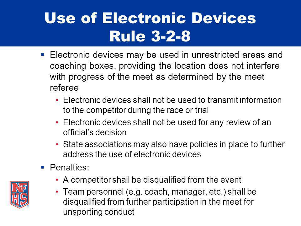 Use of Electronic Devices Rule 3-2-8