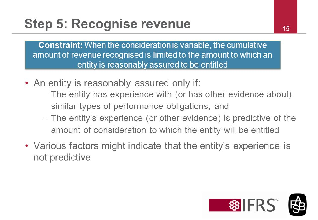Step 5: Recognise revenue