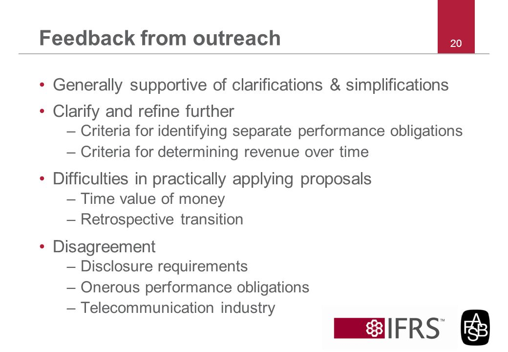 Feedback from outreach