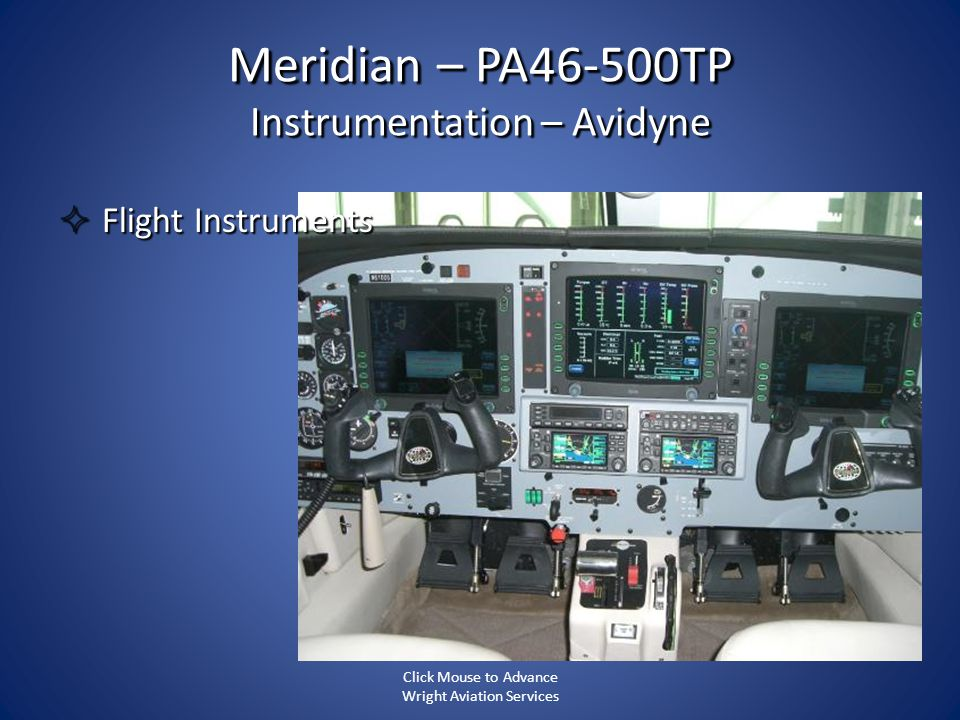 Meridian – PA46-500TP Instrumentation – Avidyne